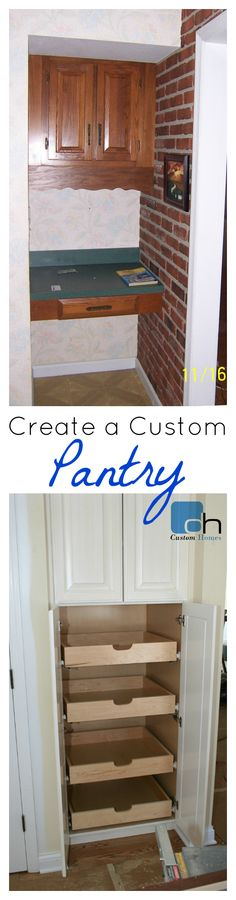Turning Unused Space into an Organized Pantry - Easy DIY steps with How To Instructions!