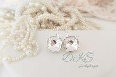 Swarovski Bridal Earrings Crystal Clear 12MM Classical