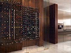 Check Out 35 Best Modern Wine Cellar Ideas. While we do not claim to be world class experts when it comes to 'wine tasting', design of a perfect wine cellar is something we would be glad to talk about. Cafe Bar, Küchen Design, Interior Design, Design Elements, Glass Wall Design, Home Wine Cellars, Wine Cellar Design, Wine Collection, Storage Design
