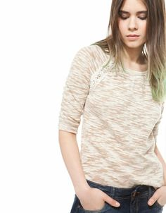 Bershka España - Jersey BSK detalle crochet