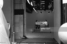 Entrance of the studio Francoeur, with the singer Romuald and Denise Glaser inside