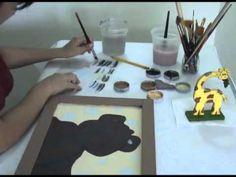 TECNICA PELAJE EN PINTURA COUNTRY, OSOS PELUDOS TECNICA AVANZADA 1/2 Pintura Country, Paint Party, Folk Art, Decoupage, Stencils, Doodles, Painting, Laser Cutting, Felt