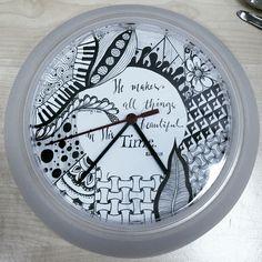 "Ikea hack: Zentangle - Rusch clock  7 1/4"" diameter circle template"