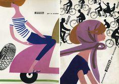 Mid century illustrations by Lora Lamm