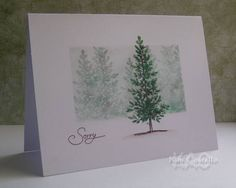 Stampin Up: Lovely as a Tree.