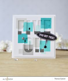 Altenew - Building Blocks - Speech Bubbles - Caps Bold Alpha - Therese Calvird (card video) 2 copy