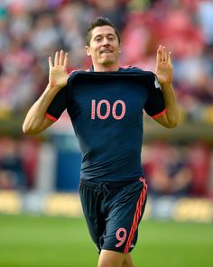 With his brace against Mainz scored his goal in 168 Bundesliga games. So that's 7 goals in 2 games no wonder Pep is allowing him fo attend Oktoberfest. by soccer. Robert Lewandowski, 101 Goals, The 100, Soccer, Munich, Instagram, Athletes, Poland, Random Things