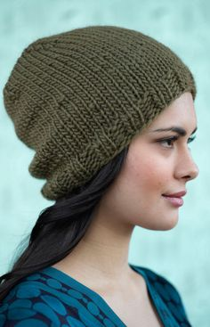 super easy to knit! i get lots of compliments on mine...even offers to buy it off my head!