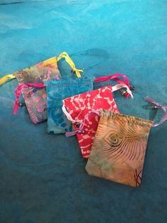 A personal favorite from my Etsy shop https://www.etsy.com/listing/399077985/batik-4-pack-mini-drawstring-bags