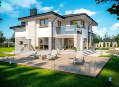 DOM.PL™ - Projekt domu ARP EMILIAN CE - DOM AP2-13 - gotowy koszt budowy Modern Small House Design, Dream Home Design, Classic House Exterior, Amazing Architecture, Home Fashion, Interior Design Living Room, Design Case, My House, Building A House