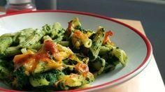 Rakott spenótos tészta Guacamole, Sprouts, Quiche, Risotto, Potato Salad, Zucchini, Potatoes, Chicken, Baking