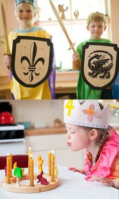 I think the swords & sheilds would be great for a kids birthday party!