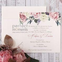 Προσκλητήριο Γάμου Τριαντάφυλλα Wedding Planning, Place Cards, Place Card Holders