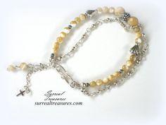 Mocha Swirl  Bracelet.. Sterling Silver Mother by SurrealTreasures