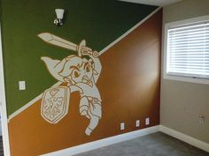 Link bedroom mural — Such Legend of Zelda pride!