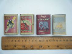 Old Tin Match Box Holder Lot, Vintage Collectible Match Holder Lot of 4 #909