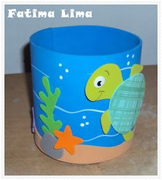 EVA CHARMOSA: FUNDO DO MAR Pencil Holder, Pen Holders, Science Projects, Projects To Try, Letter E Craft, Daisy Painting, Cowboy Theme, Mexican Party, Kids Zone