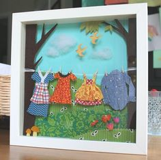 family clothesline diorama | Flickr - Photo Sharing!