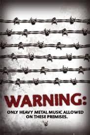 Warning Heavy Metal Poster