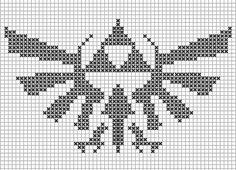 Cross stitch pattern Triforce, zelda love <3