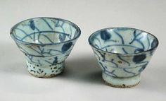 antique chinese sake cups ~KJ~ so beautiful