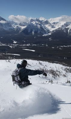 Lake Louise Ski Resort is arguably one of the most scenic ski areas on earth//