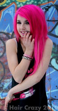 mary jayne misery hot pink hair with black hair styles i