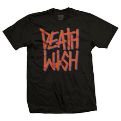 Deathwish Tee Shirt Deathstack Black Orange