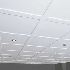 Embassy Suspended Ceiling Kit – 80 sq/ft White¼ in. : Embassy Suspended Ceiling Kit – 80 sq/ft White¼ in.-thick Ceiling PanelsMultiple box or volume purchases may not deliver on the same day Drop Ceiling Basement, Drop Ceiling Tiles, False Ceiling Living Room, Dropped Ceiling, Basement Walls, Ceiling Panels, Basement Ideas, Drop Ceiling Lighting, Basement Shelving