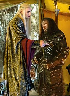 Thranduil and Thorin together again. :-)