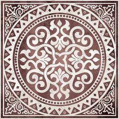 Digital tiles, medallion motif ornate art prints, Mosaic Tile Wall Art set of 4 printable images for DIY blue and brown home decor Geometric Pattern Art Abstract Print Abstract Art Geometric Stencil Patterns, Tile Patterns, Pattern Art, Pattern Design, Tuile, Marble Art, Ornaments Design, Mosaic Tiles, Cement Tiles