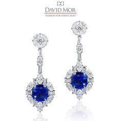 A pedra do amor! Um dos nossos safiras especiais acentuado com belos diamantes fixado em platina. #DavidMorJewelry ...