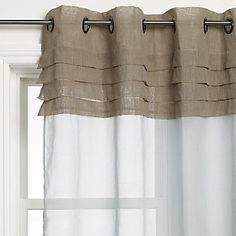 Like the pleats and contrast at the top. I could hack some ikea curtain panels with this idea.