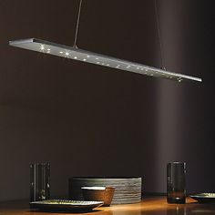 """Parallax Linear Suspension by Tech Lighting at Lumens.com $1,153.60  Fixture: Height 0.61"""", Width 54"""", Depth 3.8"""" Suspension: Length Adjustable To 145.8"""" Canopy: Height 1.2"""", Width 12.7"""", Depth 4.2"""" Cable: Length 144"""""""
