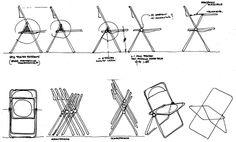 Plia folding chair, Giancarlo Piretti, 1967, production Haworth Castelli