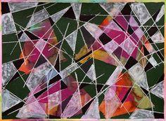 Algorithm 1 mixed media painting on paper by Angelica Alvarado