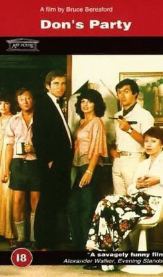 Australian | Don's Party, starring John Hargreaves, Graham Kennedy, Graeme Blundell, Jeanie Drynan, Harold Hopkins, Candy Raymond, Clare Binney, Pat Bishop, Veronica Lang and Kit Taylor, 1976