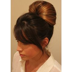 How to Do a Messy Bun with Long Hair 4 Bun Styles ❤ liked on Polyvore featuring beauty products, haircare and hair styling tools