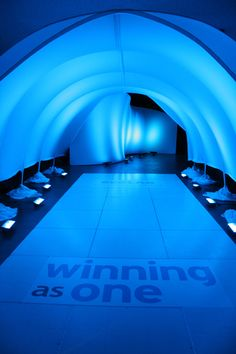 First impressions really DO make a difference.  Check out this unique entrance unit displayed at a corporate event