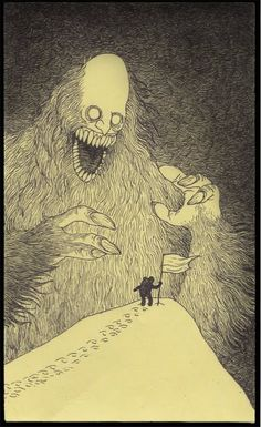 Edward Gorey is one of my favorite artists. What if he had illustrated Lovecraft's stories or created artwork with Lovecraftian themes? The art of John Kenn Mortensen might be the result. Art And Illustration, Illustrations, Arte Horror, Horror Art, Creepy Drawings, Creepy Art, Art Drawings, Monster Drawing, Monster Art