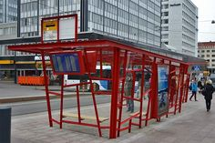 Tramstop Fredrikinkatu, Kamppi, Helsinki. Design Stefan Lindfors