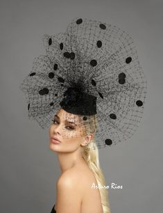 This Black mesh/polkadot fascinator, polka dot headpiece, derby hat, derby fascinator is just one of the custom, handmade pieces you'll find in our fascinators shops. Fascinator Hats, Fascinators, Headpieces, Crazy Hats, Kentucky Derby Hats, Cocktail Hat, Fancy Hats, Church Hats, Love Hat