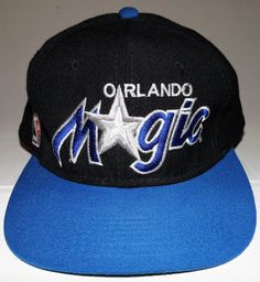 Orlando Magic NBA Basketball 90's Sports Specialties Script Fitted Hat 7 5/8  #SportsSpecialties #OrlandoMagic Orlando Magic, Hats For Sale, Nba Basketball, Script, Baseball Hats, Popular, Fitness, Sports, Ebay