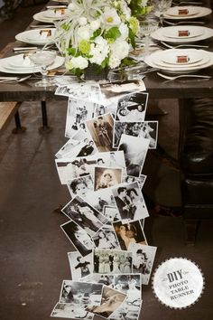 Photo Table Runner « Wedding Ideas, Top Wedding Blog's, Wedding Trends 2014 – David Tutera's It's a Bride's Life