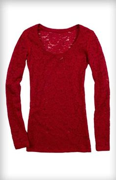Long Sleeve Lace Tee #ExpressHoliday    Wow I love it! And Express! Definitely my favorite store...they're so stylish!
