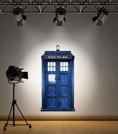 wall decal Dr Who full colour phone box The by 60SecondMakeover, £17.99