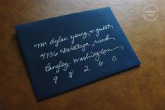 Wedding Calligraphy Hand Addressed by AndreaNay on Etsy