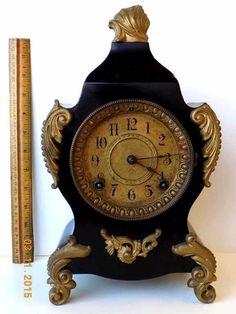 19TH CENTURY ANSONIA FRENCH STYLE MANTEL CLOCK : Lot 3275
