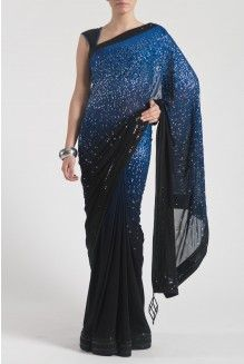 Dark glamor saree