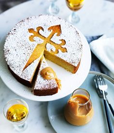Australian Gourmet Traveller recipe for Tarta de Santiago by Gordita in Brisbane.